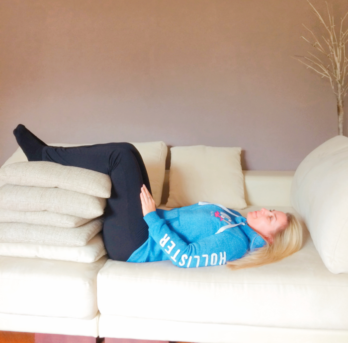 Stufenlagerung gegen Rückenschmerzen